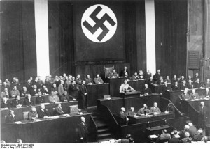 Hitlers's Enabling Act, March 23, 1933 in the Reichstag